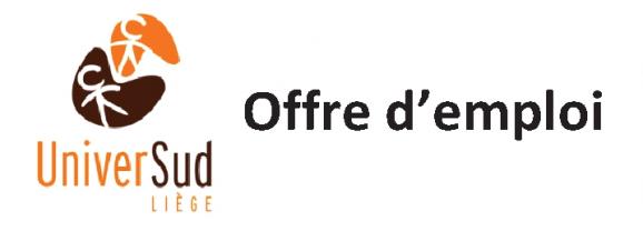 URGENT – OFFRE D'EMPLOI : UniverSud-Liège recherche un-e chargé-e d'éducation permanente, d'éducation au développement et de communication