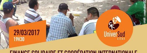 [29/03/17] Conférence : Finance solidaire et coopération internationale
